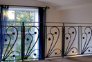contemporary wrought iron stair balustrade