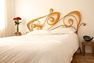 Art Nouveau themed bed