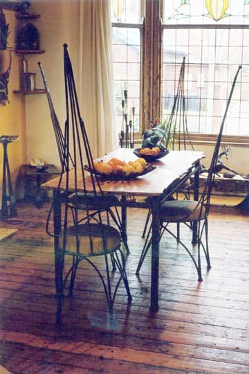 Fantasy Wrought Iron Dining Table And Chairs