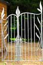 Art Nouveau inspired metal gates