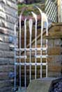 stainless steel, wrought iron and other metal gates