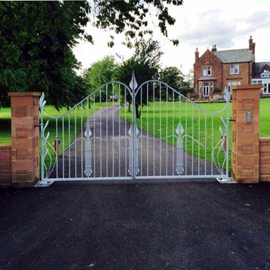 Contemporary Art Nouveau Driveway Gates