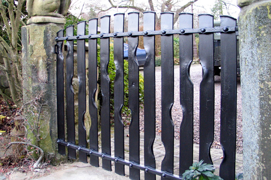 Exceptional Contemporary Metal Garden Gate, Contemporary Steel Garden Gate