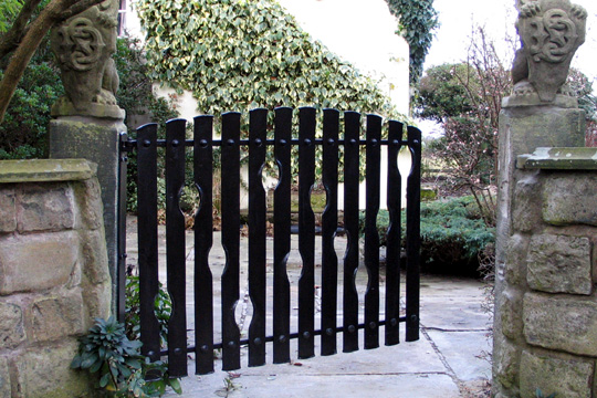 Contemporary metal garden gate