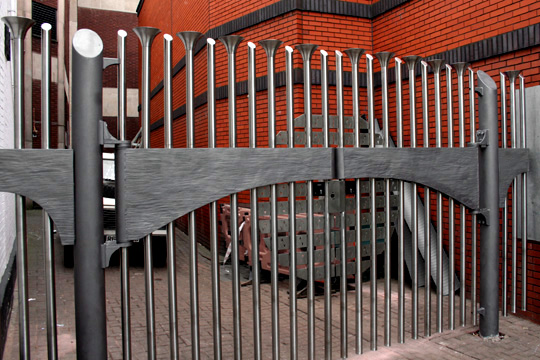 creative and artistic stainless steel gates
