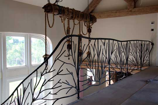 A Blacksmith S Blog Tree Sculpture Stair Railings