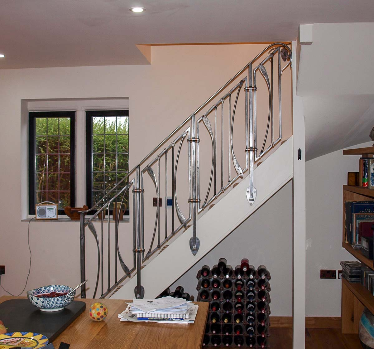 Arts And Crafts Inspired Wrought Iron Stair Balustrade