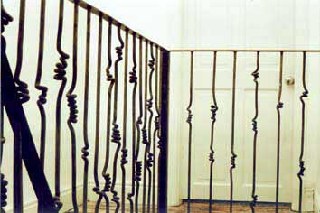 staircase spindles wrought iron